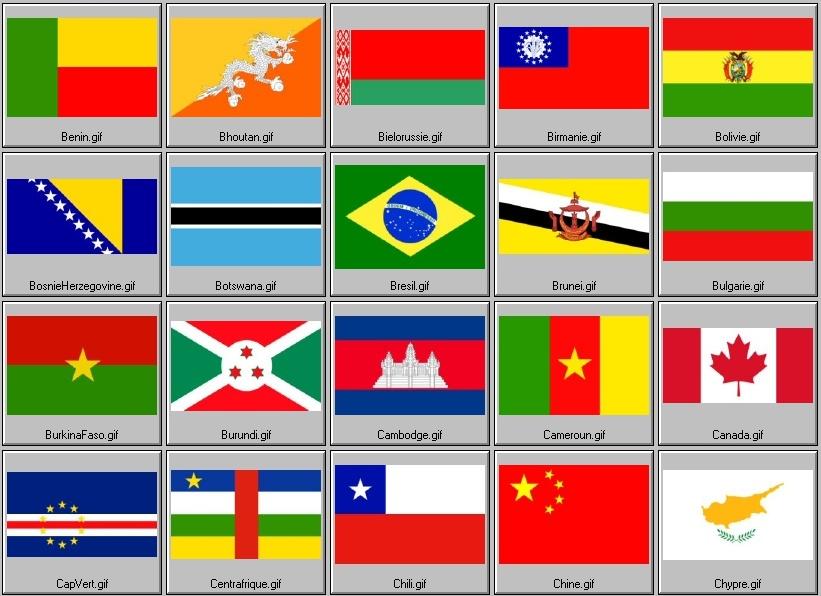 Drapeaux nationaux reconnus (2ème partie)